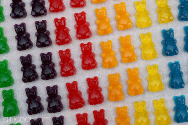 Easy Homemade Gummy Bears (inspired by Cloudy with a Chance of Meaballs for Food 'n Flix) from girlichef.com