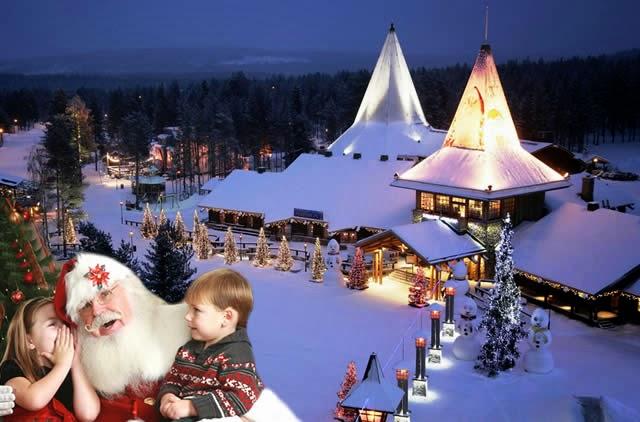 Vila do Papai Noel, Lapônia, Finlândia - Santa Claus Village, Rovaniemi Lapland Finland
