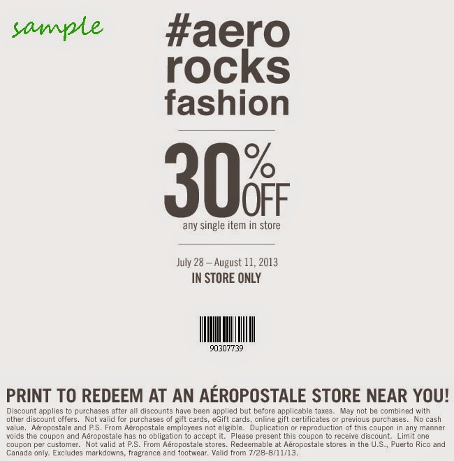 Aeropostale coupons online only
