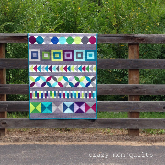 Crazy Mom Quilts Baby Row By Row Quilt Finished