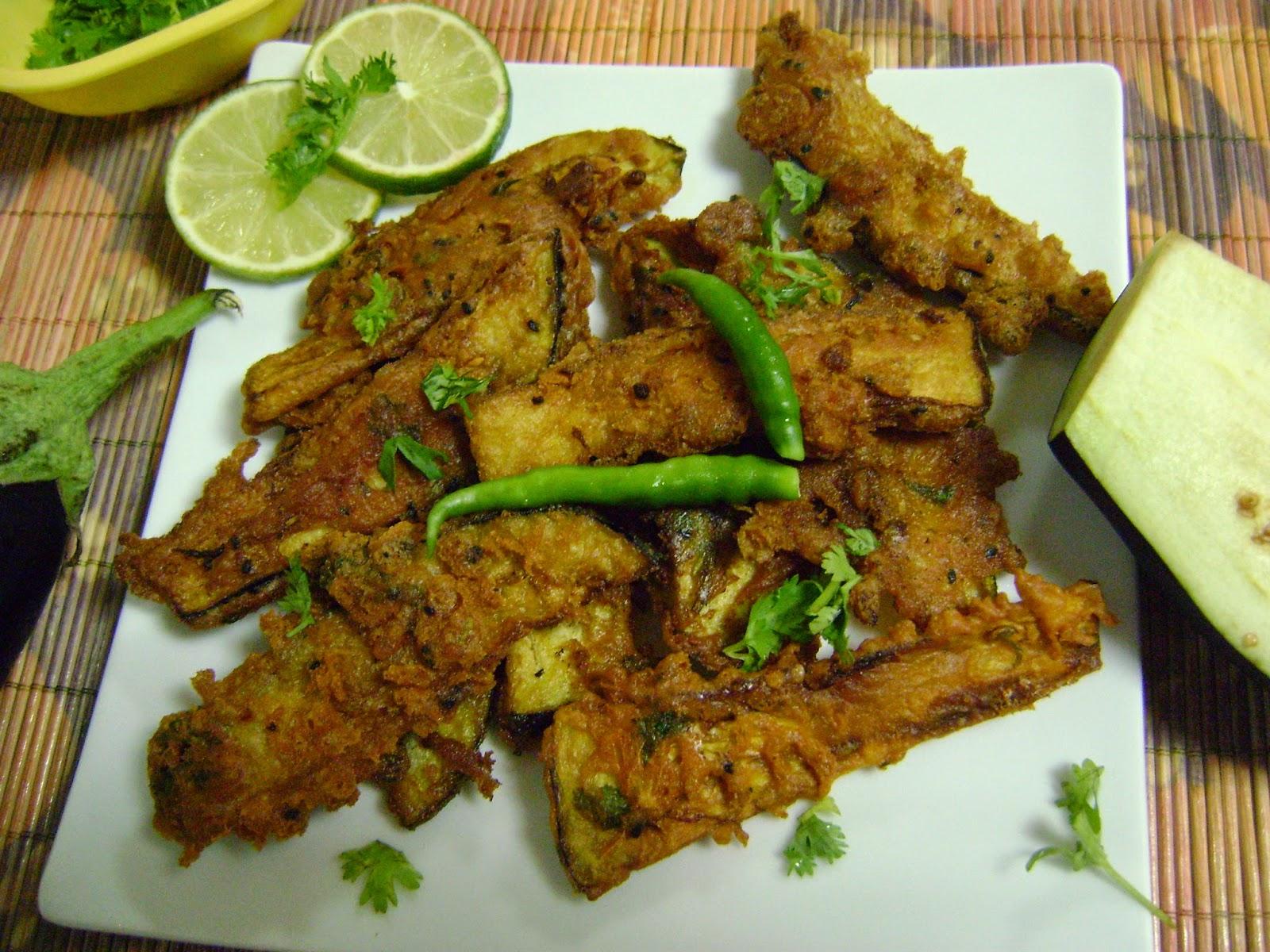 Bethica's Kitchen Flavours: Beguni (Batter Fried Eggplants ...
