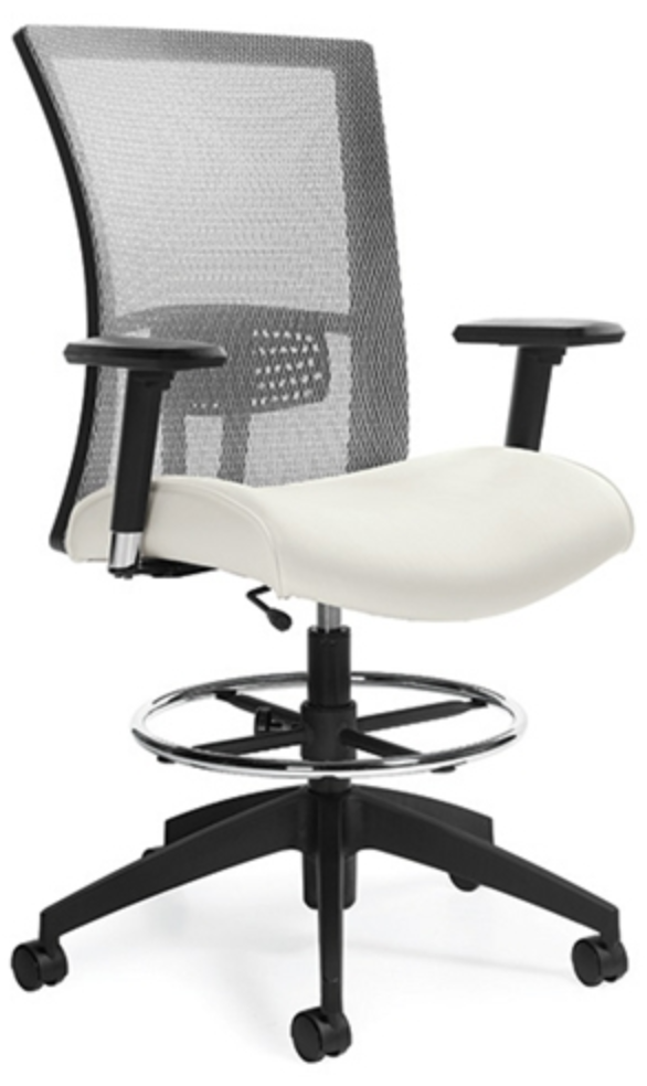 Vion Mesh Back Drafting Chair by Global