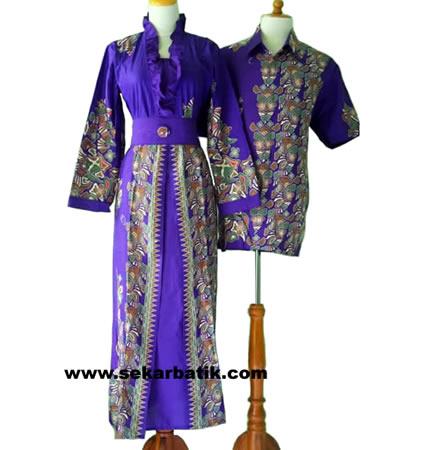 gamis batik couple modern