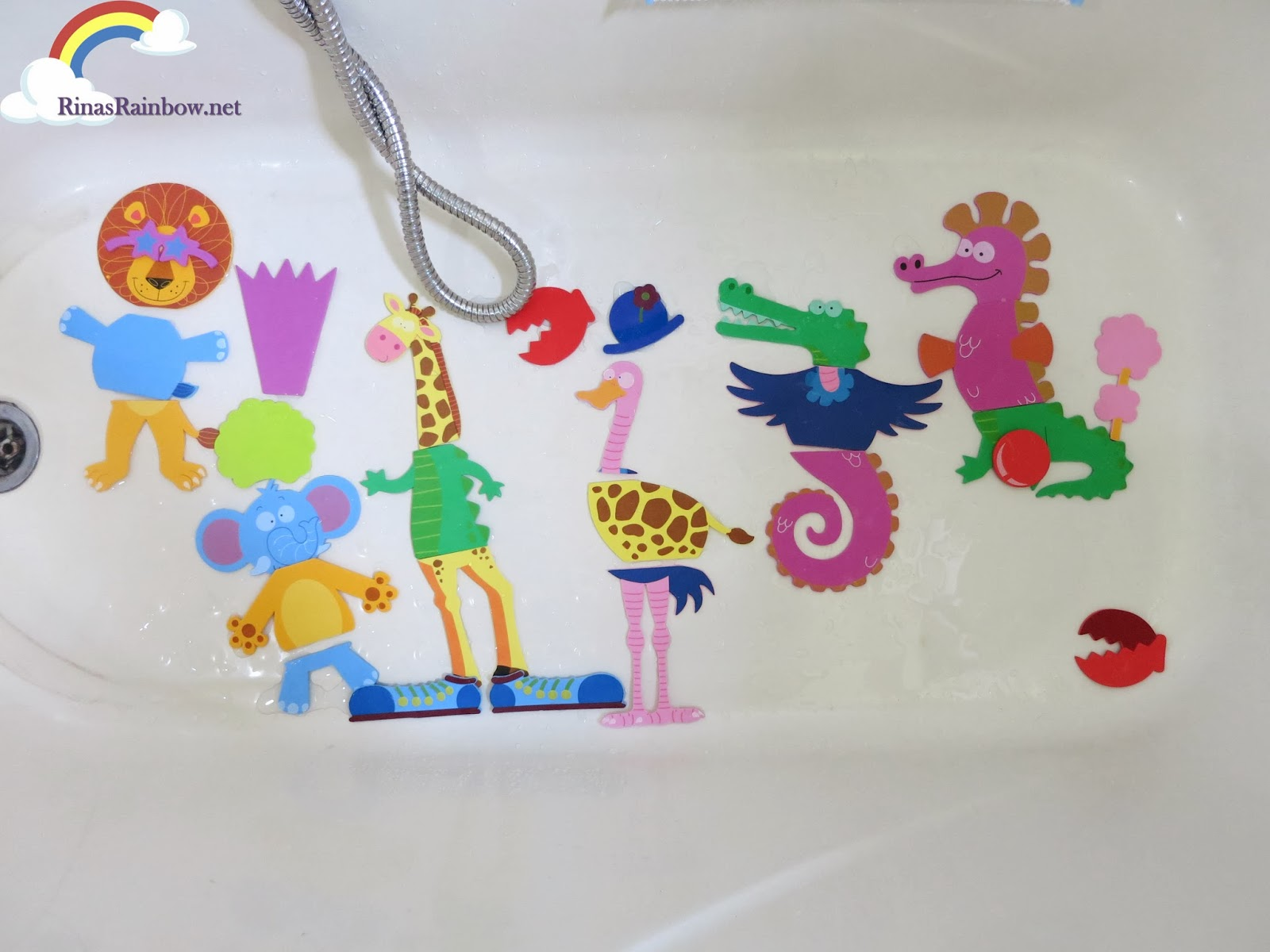 meadow kids bath stickers creatures