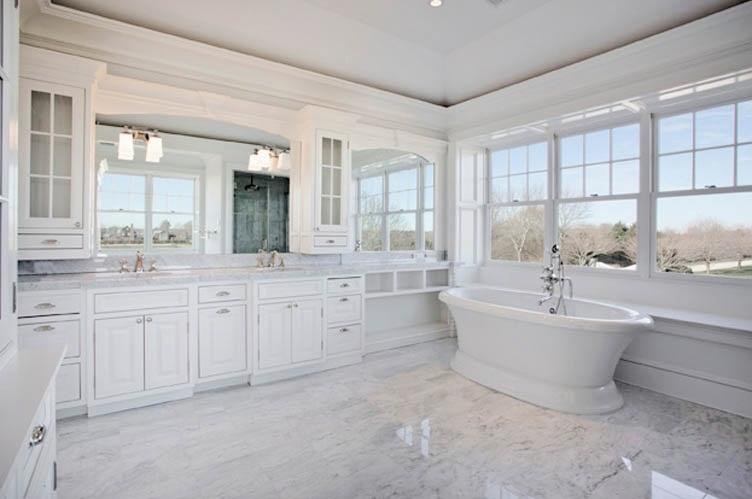 The granite gurus april 2012 for White master bathrooms