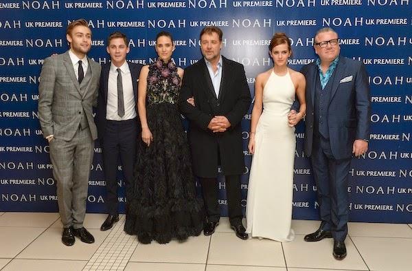 Logan Lerman in Saint Laurent - London Premiere Of 'Noah'