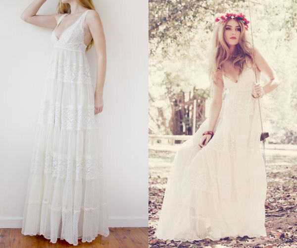 My wedding dress floor length wedding dresses for summer for Vintage summer wedding dresses