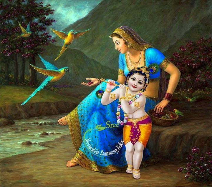 TELUGU WEB WORLD: KRISHNA WITH MOM