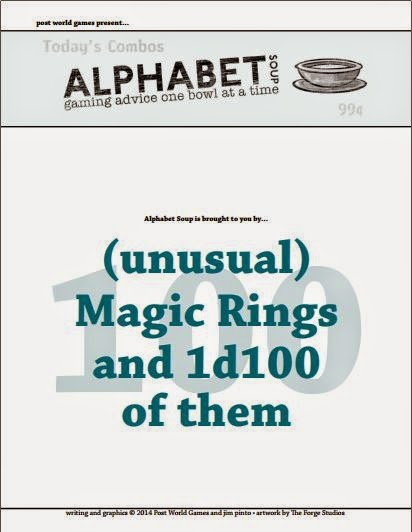 Jim Pinto's Alphabet Soup, 100 MagicRings