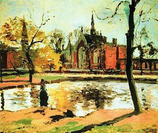 Камиль Писсарро. Колледж в Далвиче. 1871.