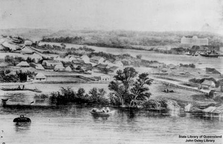 Kangaroo Point, 1860s (John Oxley Library)