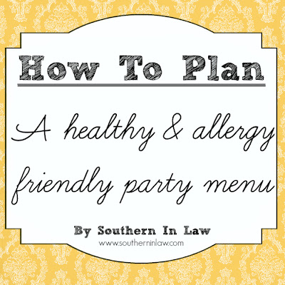 How to plan a healthy party menu