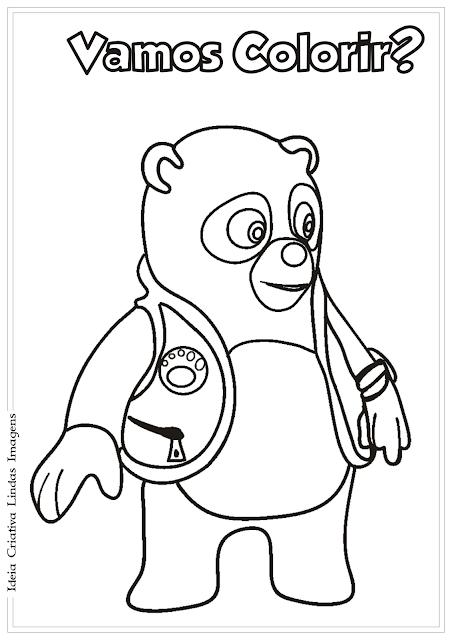 Agente Especial Urso desenho para colorir