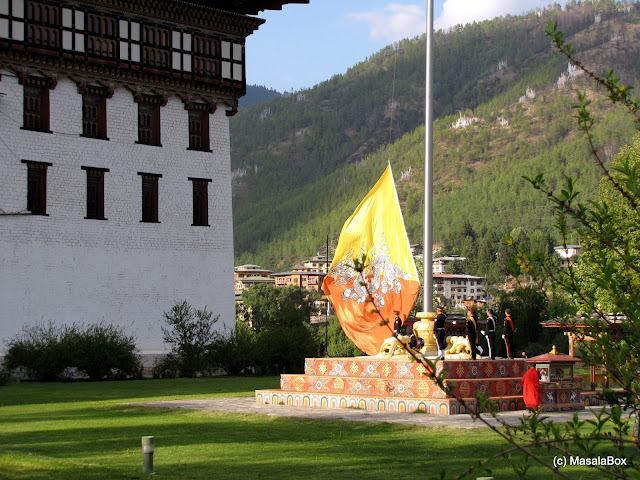 Tashichho Dzong - Flag down ceremony
