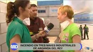 Luis Serrano. Celia Blanco. Incendio Arganda. Información emergencias