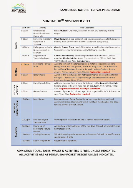 Sarawak Malaysia Borneo Santubong Nature Festival Programme 2013 Day 2