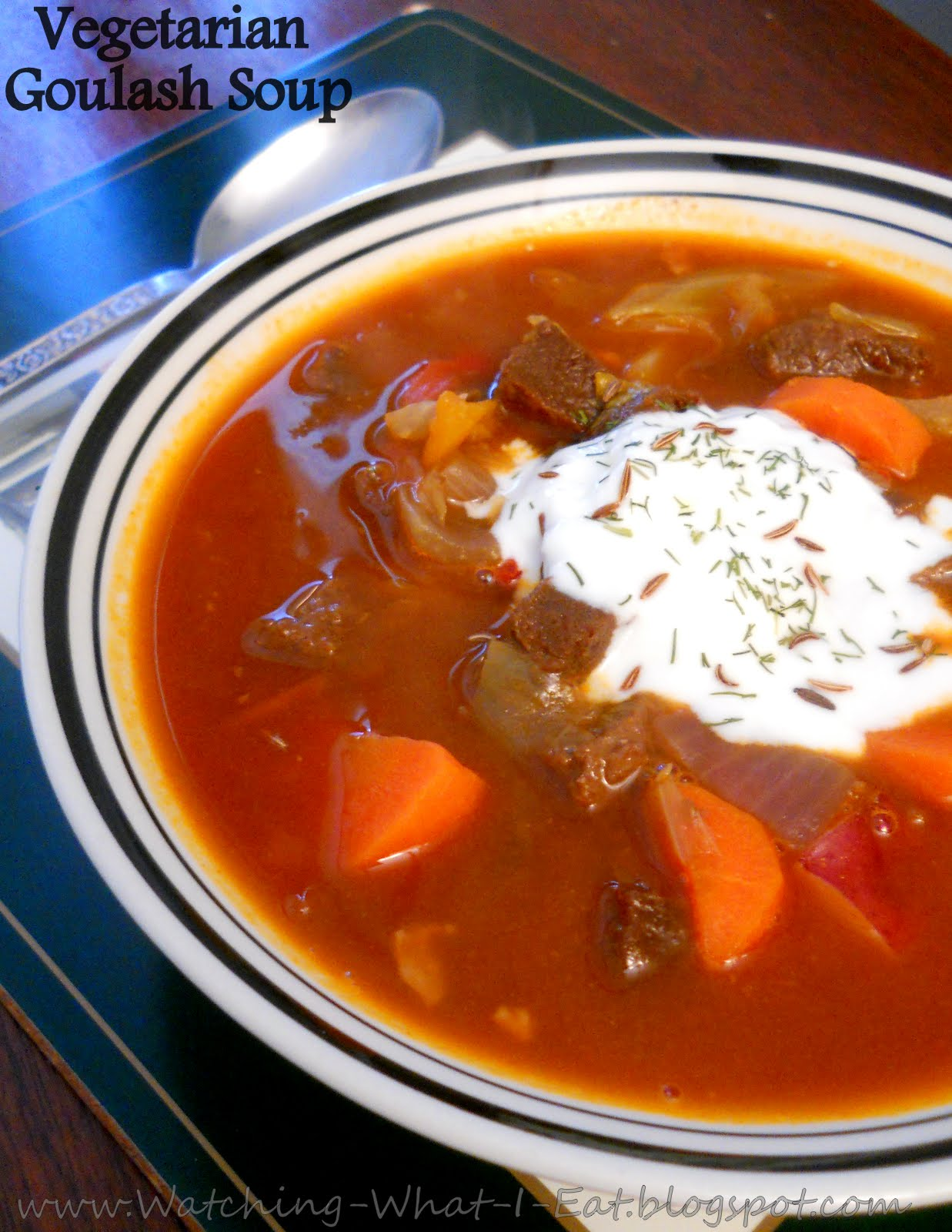 Watching What I Eat: Vegetarian Goulash Soup ~ Meatless Monday