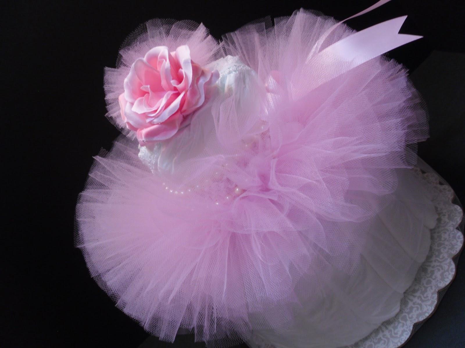 Victoria Rose Diaper Cake Baby Shower Centerpiece ...