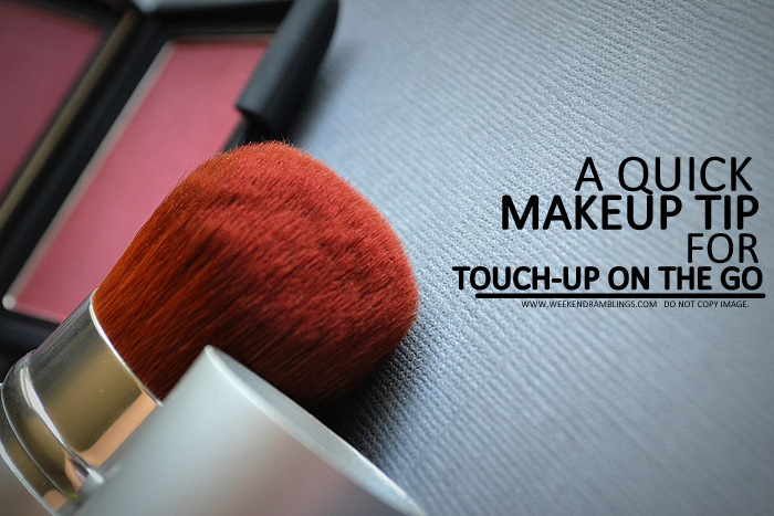 Makeup Tip for Quick Touch-ups on the Go