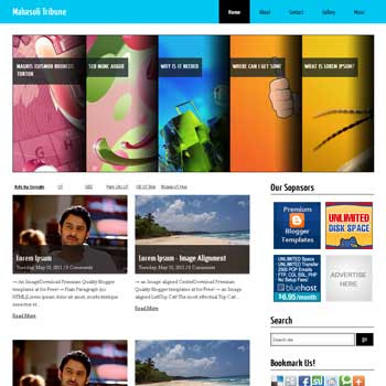 Mahasoli Tribune blogger template. slideshow template blog. pagination for blogger template. magazine style blog template. template blog form wordpress theme