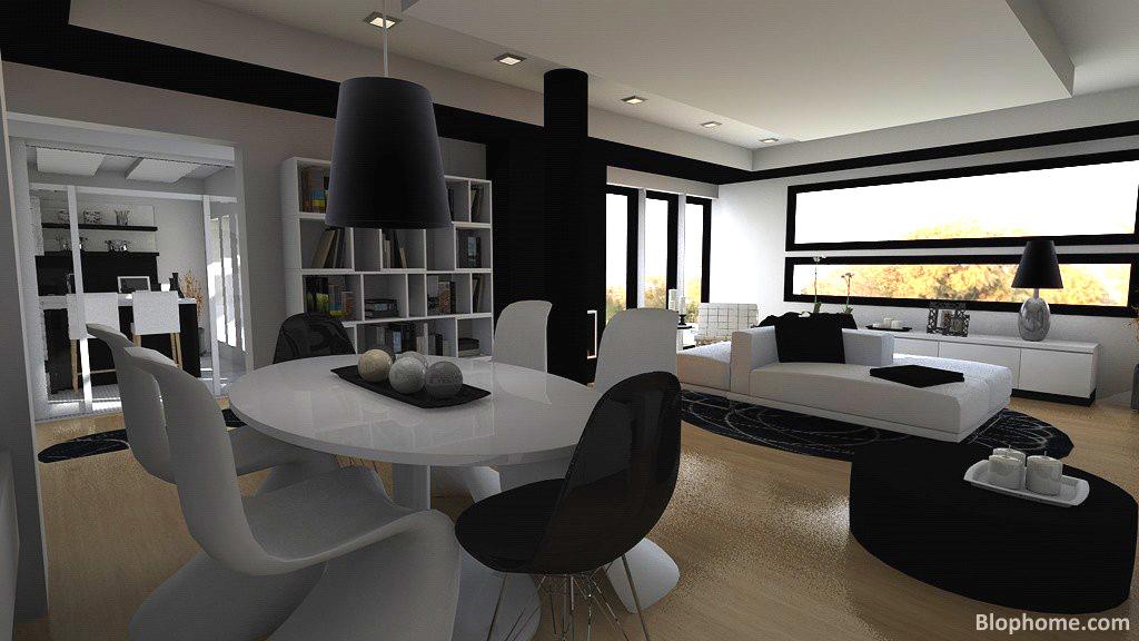 El globo muebles en blanco y negro for Muebles blanco y negro