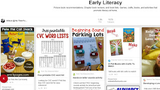 https://www.pinterest.com/noflashcards/early-literacy/