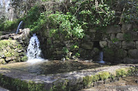 Hermon nature reserve in Golan - Banias spring and waterfall