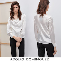 Queen Letizia Style ADOLFO DOMİNGUEZ SILK BLOUSE