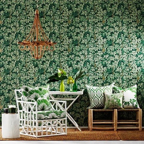 Fornasetti II Chiavi Segrete Wallpaper, Cole & Son. Interior design inspirations.