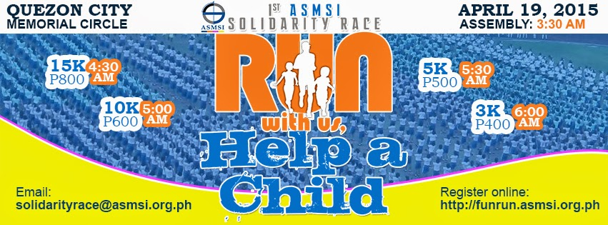 Run With Us, Help a Child | ASMSI 1st Solidarity Race