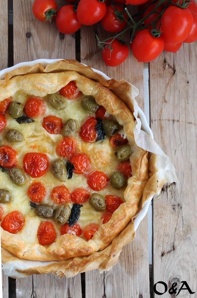 Super Olio e Aceto: Ricetta torta salata con pomodorini, olive e mozzarella YH75