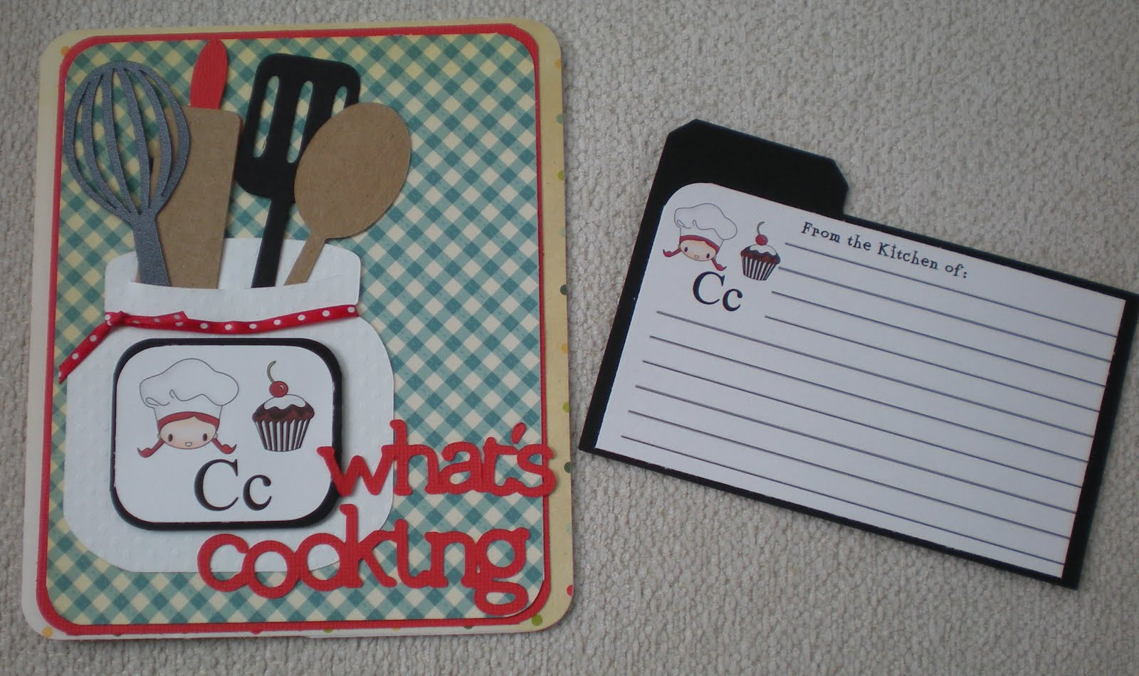 Grandma Bonnie\'s Place: What\'s Cooking card & recipe card