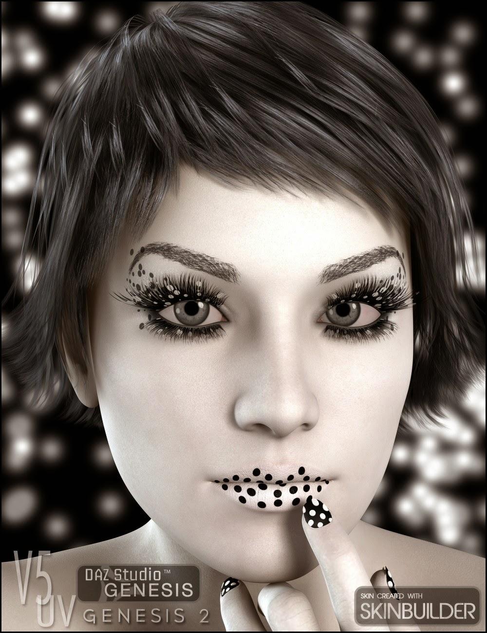 Maquillage instantanée pour jeux de peau V5 UV