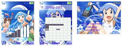 「侵略!花枝娘」SonyEricsson手機主題for Elm/Hazel/Yari/W20﹝240x320﹞