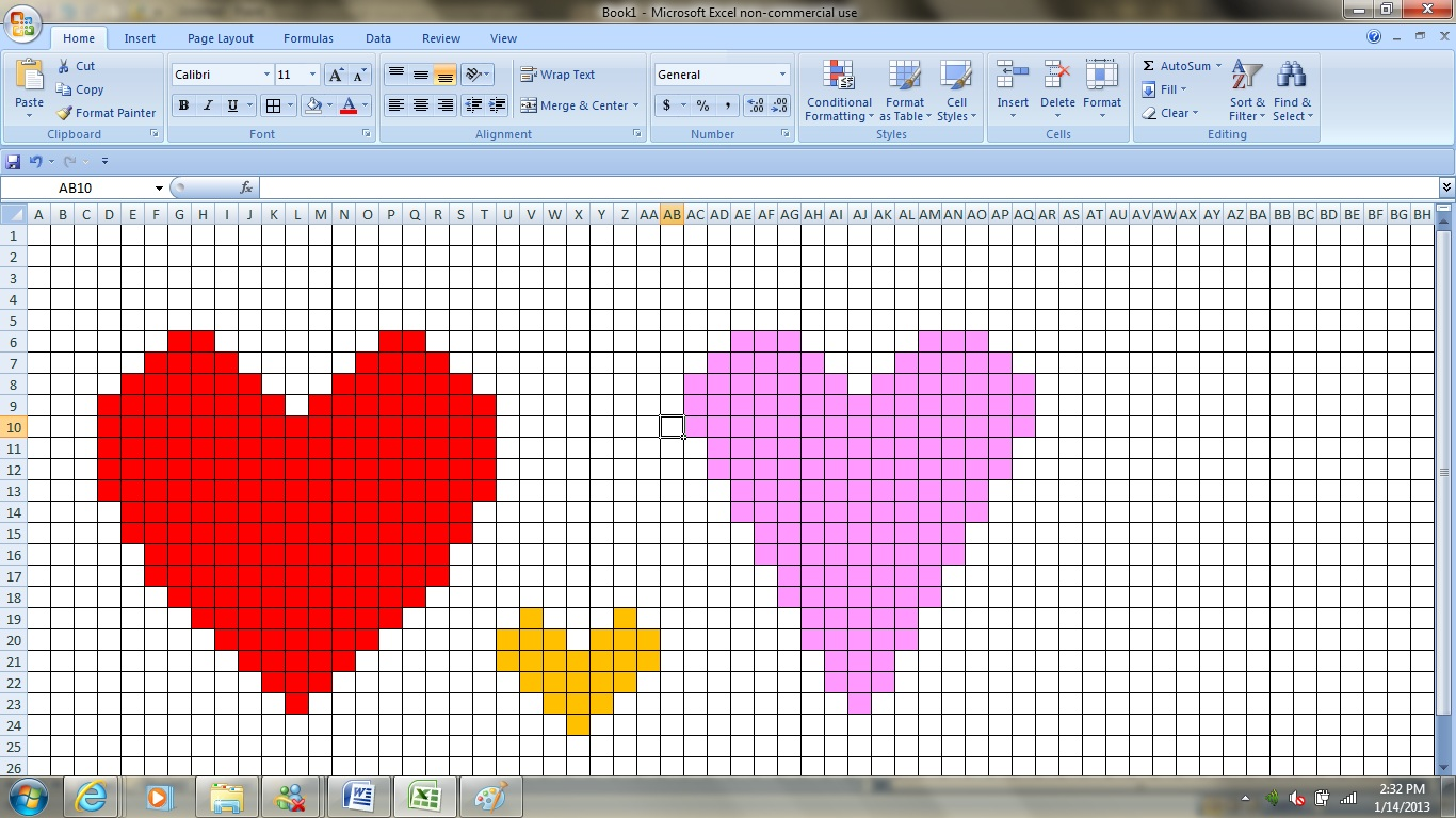 Crochet Pattern Excel : Mayuyas Randoms: Creating Crochet Heart Patterns