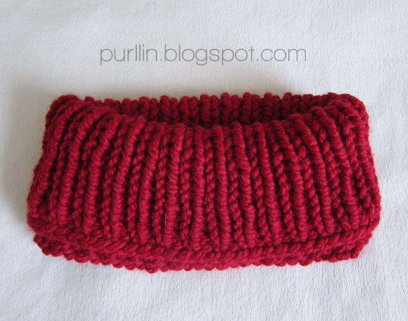 Purllin Quick Knit Cowl Neck Warmer Free Knitting Pattern