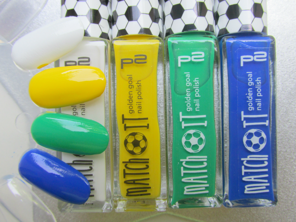 p2 Match It Worldcup Limited Edition - Brasil - Swatches