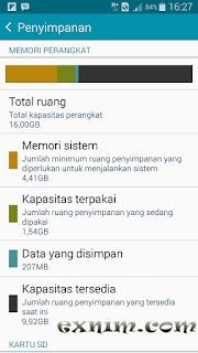 Mengapa kapasitas memori internal hp Android tidak sama alias berbeda