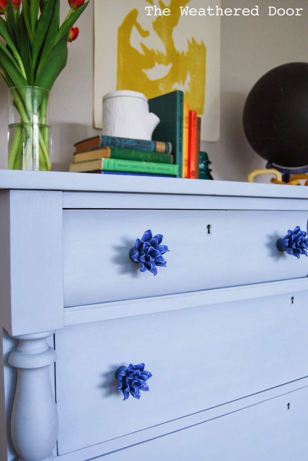 A Light Blue Empire Dresser with Anthropologie Knobs - The ...