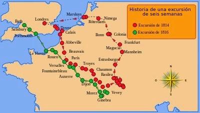 Itinerario de Mary Shelley en 1814, Historia de un viaje de seis semanas, Literaturas Hispanicas UAM