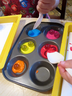 Art and soul preschool marble painting for Crafts for 6 year old boy