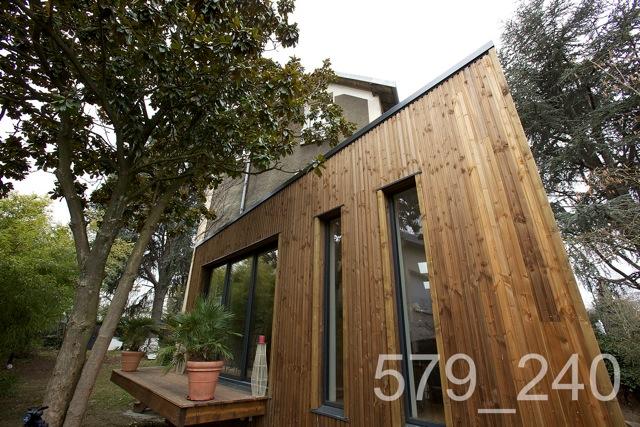 extension bois au plessis robinson architecte maison bois paris alsace. Black Bedroom Furniture Sets. Home Design Ideas