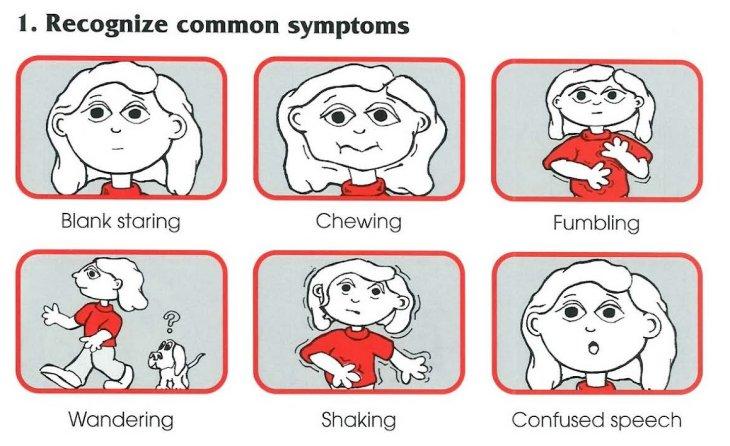 First aid treatment epilepsy
