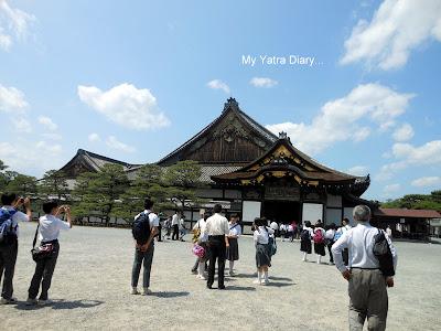 Entrance to the Ninomaru Palace - Nijo Castle in Kyoto, Japan