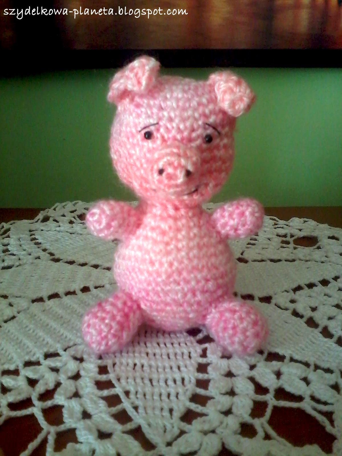 szydełkowa świnka