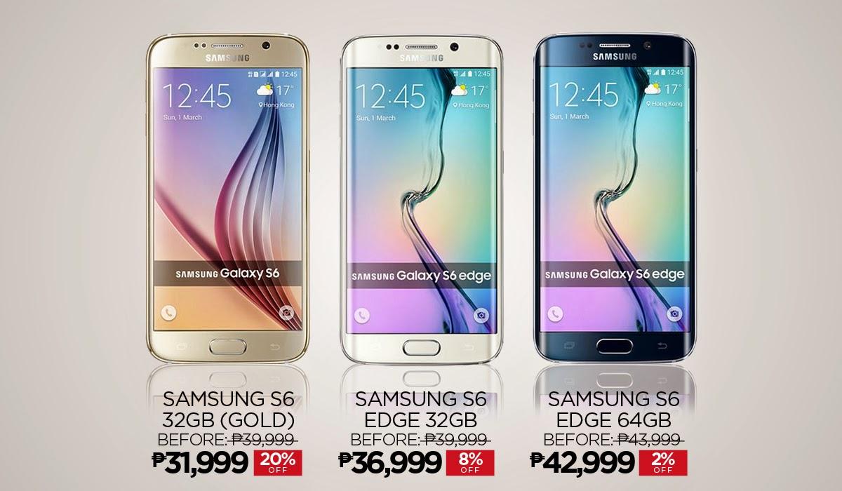 Samsung Galaxy S6 and Galaxy S6 Edge Price