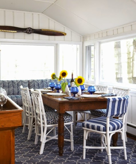 Nautical Decor Dining Room: A Sophisticated Blue And White Nautical Cottage