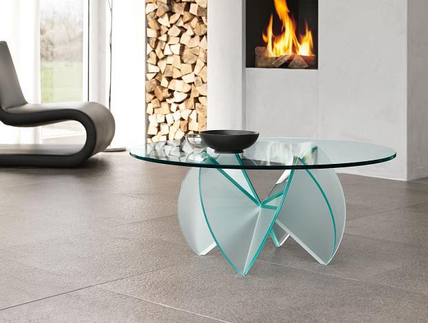Living room elegantes con mesas de centro de cristal - Mesa de mimbre y cristal ...
