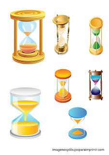 dibujos de relojes de arena para imprimir
