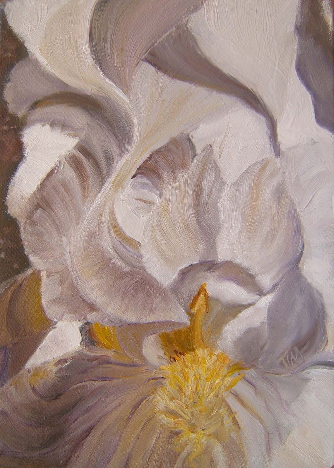 """7"""" x 5"""" oil on canvas, copyright 2010 Tina M. Welter"""